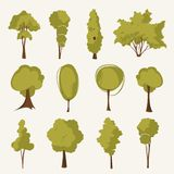 Illustration tree set Royalty Free Stock Image