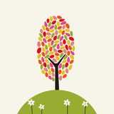 Illustration of tree text Royalty Free Stock Photography
