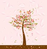 Illustration with tree,vector Stock Photography