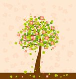 Illustration with tree,vector Royalty Free Stock Photo