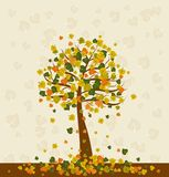 Illustration with tree,vector Royalty Free Stock Image