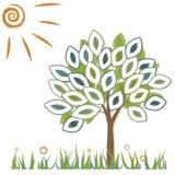 Illustration of a tree. On a white background Royalty Free Stock Images