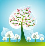 Illustration with trees,vector Royalty Free Stock Photo