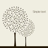 Illustration with trees. Vector vector illustration