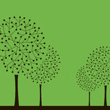 Illustration with trees. Vector Royalty Free Stock Image