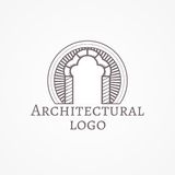 Illustration of trefoil arch icon with text Royalty Free Stock Images