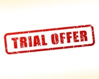 Trial offer text buffered Royalty Free Stock Image