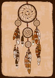 Illustration with tribal dreamcatcher Royalty Free Stock Photo