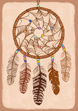 Illustration with tribal dreamcatcher Royalty Free Stock Image