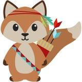 Illustration tribale de Fox de région boisée illustration libre de droits