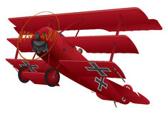 Illustration triplane de WWI Warbird Image libre de droits