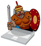 Illustration of a trojan computer virus threat. Royalty Free Stock Photography