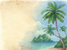 Illustration of the tropical beach Stock Photography
