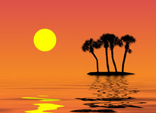 Illustration tropicale Photo libre de droits