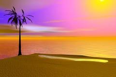 Illustration tropicale d'île images libres de droits