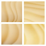 Illustration tropicale de fond de vecteur de dunes de désert Vue supérieure de sable Photographie stock libre de droits