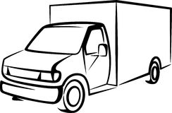 Illustration with a truck. Royalty Free Stock Images