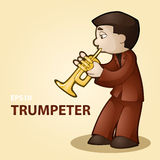 Illustration of a trumpeter. Stock Photography