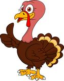 Turkey cartoon with thumb up Royalty Free Stock Images