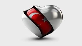 Illustration of Turkey flag love heart concept Royalty Free Stock Image