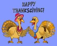 Illustration of turkey. Thanksgiving card. Stock Photos