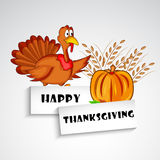 Illustration of Turkey with wheat and pumpkin for Thanksgiving. Illustration of turkey with wheat and pumpkin ion white background Stock Photos