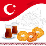 Illustration with Turkish elements Royalty Free Stock Image