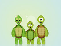 Illustration of turtles Stock Photos