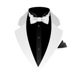 Illustration of tuxedo with bow tie Stock Image