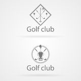 Illustration of two badge for golf club