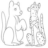 Illustration of two big cats Royalty Free Stock Photography