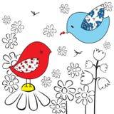 Illustration of two birds Royalty Free Stock Photos