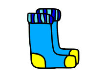 Illustration of two blue socks Stock Photos
