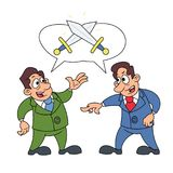Two businessmen arguing. Illustration of the two businessmen arguing with each other Royalty Free Stock Photography