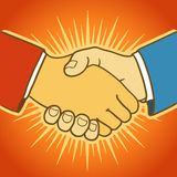 Illustration of two businessmen shaking hands Royalty Free Stock Photo
