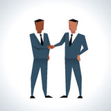Illustration Of Two Businessmen Shaking Hands Royalty Free Stock Photography