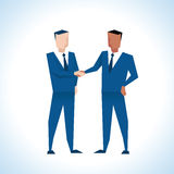 Illustration Of Two Businessmen Shaking Hands Stock Image