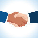 Illustration Of Two Businessmen Shaking Hands In Close Up Stock Photos