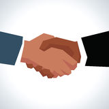 Illustration Of Two Businessmen Shaking Hands In Close Up Royalty Free Stock Photos
