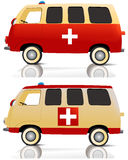 Cartoon ambulance Royalty Free Stock Images