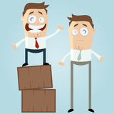Two cartoon men Royalty Free Stock Photo