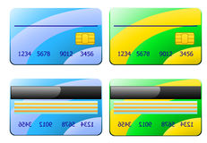 Illustration of two credit cards Stock Images