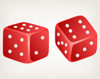 Illustration two dices Stock Photography