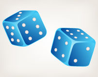Illustration two dices Stock Photos