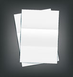 Illustration Two Empty Paper Sheet Royalty Free Stock Photo