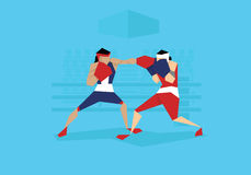 Illustration Of Two Female Boxers Competing In Event Royalty Free Stock Images