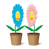 Illustration two flowers. Royalty Free Stock Photo