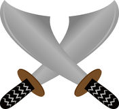 Illustration of two pirate sword Stock Images