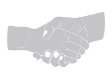 Illustration of two shaking hands. Stock Photography