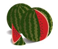 Illustration of two watermelons Royalty Free Stock Photos